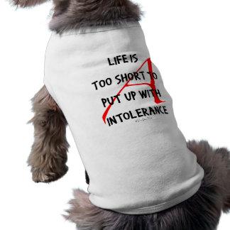 Sea tolerante de Nonbelievers Playera Sin Mangas Para Perro