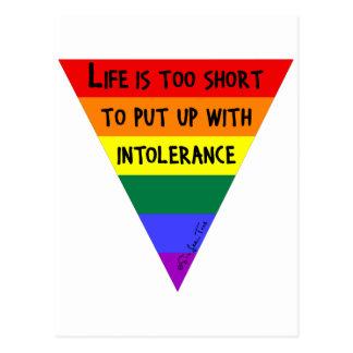 Sea tolerante tarjetas postales