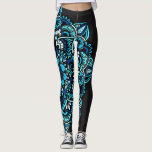 "Sea Toned Mandala Leggings<br><div class=""desc"">Drawn freehand,  then colored in photoshop.</div>"