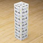 Sea tonto él es caja de regalo del Aceptable-vino Cajas Para Botellas De Vino