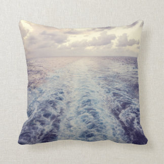Sea Tracks Throw Pillow