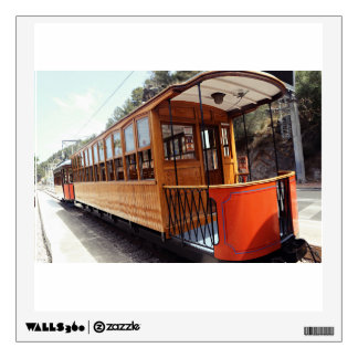 Sea train at station wall decals