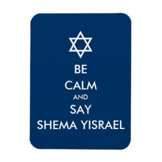 Sea tranquilo y decir Shema Yisrael Imanes Rectangulares