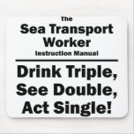 sea transport worker mouse pad