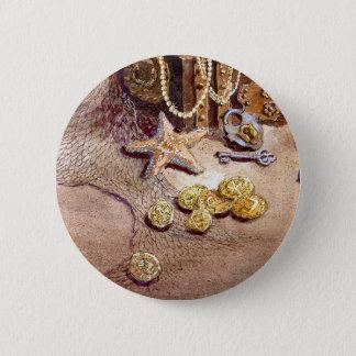 SEA TREASURES by SHARON SHARPE Pinback Button