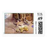 SEA TREASURES by SHARON SHARPE Postage Stamp