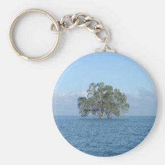 Sea Tree Basic Round Button Keychain