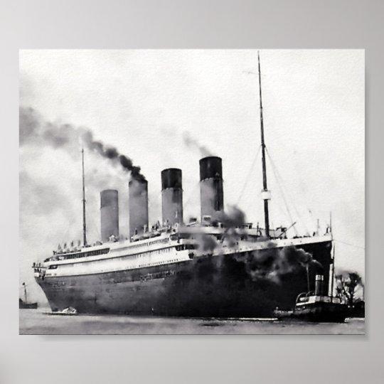 Sea Trials Begin:  RMS Titanic Poster