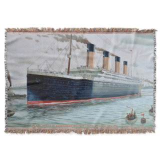 Sea Trials of RMS Titanic Throw Blanket