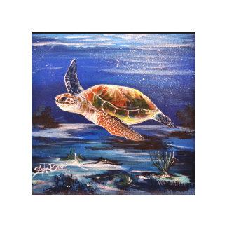 "Sea Turtle 10"" x 10"" Canvas Print"