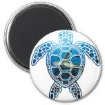 sea turtle-2 2 inch round magnet