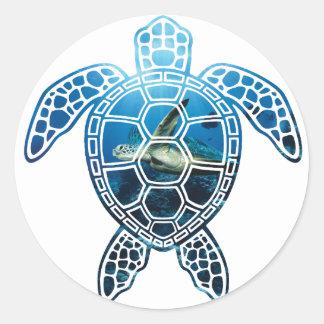sea turtle-2 classic round sticker