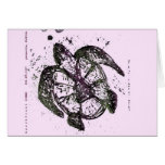 sea turtle 4 stationery note card