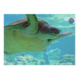 Sea Turtle 5x7 Paper Invitation Card