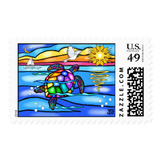 Sea Turtle (#8 - with dove) Postage