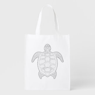 Sea Turtle Adult Coloring Bag
