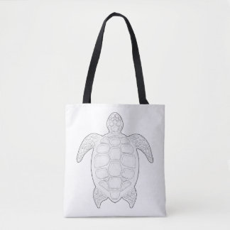 Sea Turtle Adult Coloring Full Tote