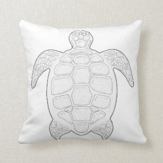 Sea Turtle Adult Coloring Pillow