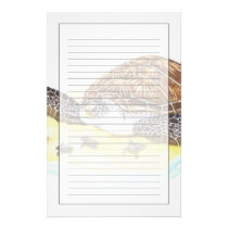 Sea Turtle and Babies Stationery