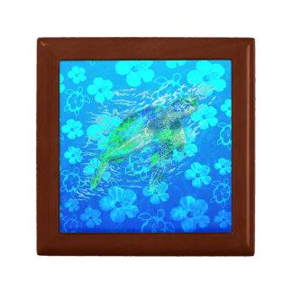 Sea Turtle And Blue Honu Trinket Boxes