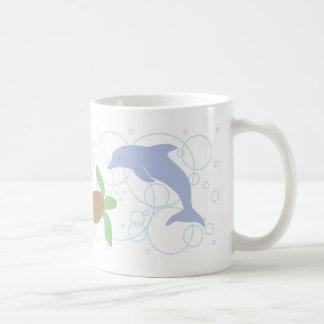 Sea Turtle and Dolphin Mug