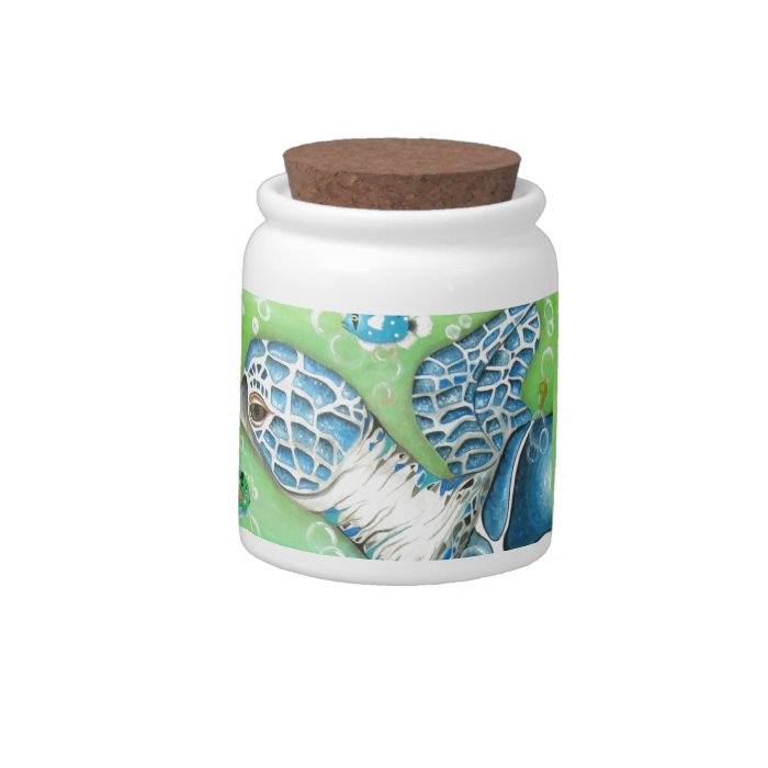 Sea Turtle and Fish Cookie Jar Candy Dishes