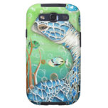 Sea Turtle and Fish Galaxy SIII Cases