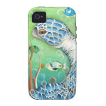 Sea Turtle and Fish iPhone 4 Cases