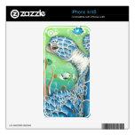 Sea Turtle and Fish iPhone 4S Skin