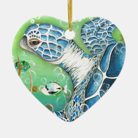 Sea Turtle and Fish Ornament