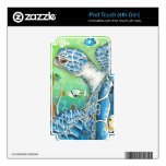 Sea Turtle and Fish Skin For iPod Touch 4G