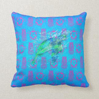 Sea Turtle And Tiki Pillow