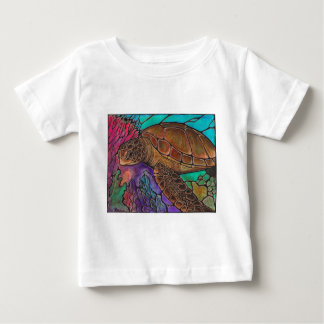 Sea Turtle Art...awesome stained glass style! Baby T-Shirt