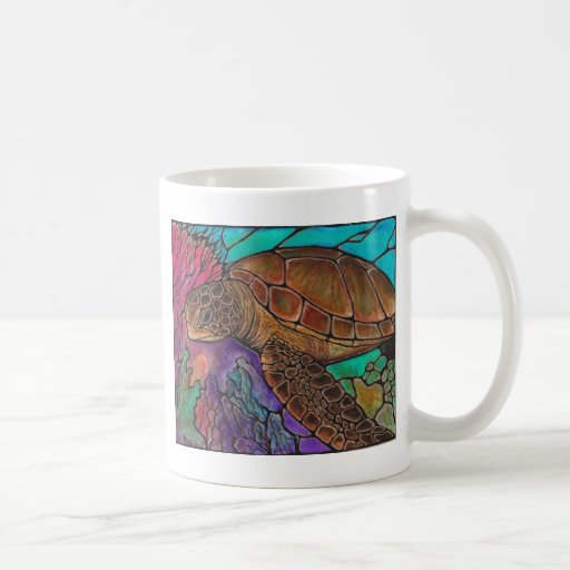 Sea Turtle Art...awesome stained glass style! Coffee Mug