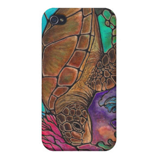 Sea Turtle Art...awesome stained glass style! iPhone 4/4S Cover