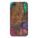 Sea Turtle Art...awesome stained glass style! Covers For iPhone 4