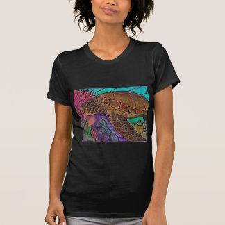 Sea Turtle Art awesome stained glass style T Shirts