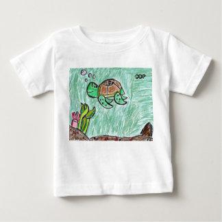 sea turtle art baby T-Shirt