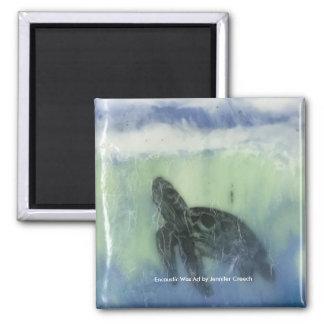 """""""Sea Turtle""""  Art Magnet"""