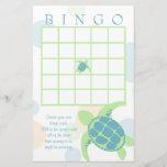 "Sea Turtle Baby Shower Bingo<br><div class=""desc"">Baby shower bingo card to compliment our sea turtles baby shower invitation with soft blue,  green and orange dots.</div>"