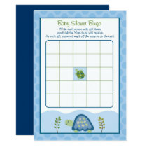 Sea Turtle Baby Shower Bingo Card