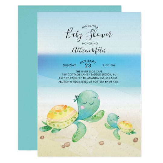 Sea turtle baby shower invitation zazzle sea turtle baby shower invitation filmwisefo