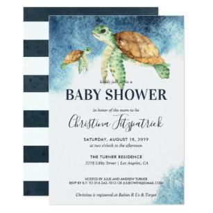 Turtle Baby Shower Invitations Zazzle