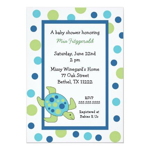 sea turtle baby shower invitation boy or girl zazzle