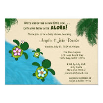 Sea TURTLE Baby Shower Invite YELLOW (Honu) 03B