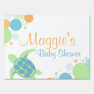 Sea Turtle Baby Shower Lawn Sign