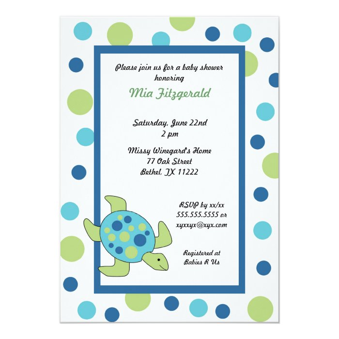 turtle baby shower invitations | feliciaday, Baby shower invitations