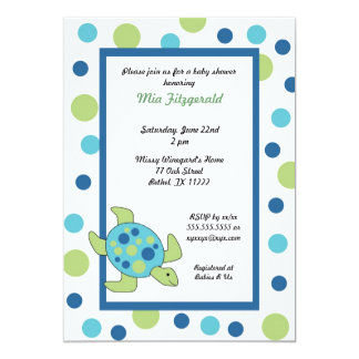 Sea Turtle Baby Shower or birthday party invite