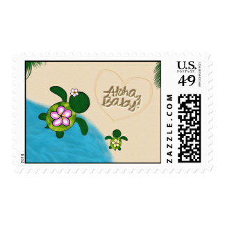 Sea TURTLE Baby Shower Postage YELLOW (Honu) 03A