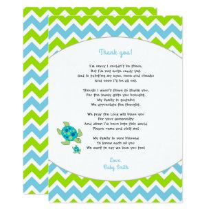 Sea turtle baby shower invitations announcements zazzle sea turtle baby shower thank you note poem card filmwisefo